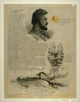 Portrait of Mr. Marshal / View of Sutter's Mill