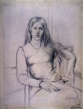 Young girl, seated