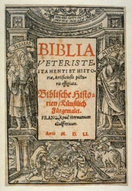 "Title page from ""Biblia Veteriste"" Frankfurt"