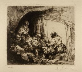 [Soldiers in a tent]