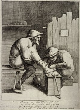 The Chiropodist (Peasant doctoring the foot of another peasant)