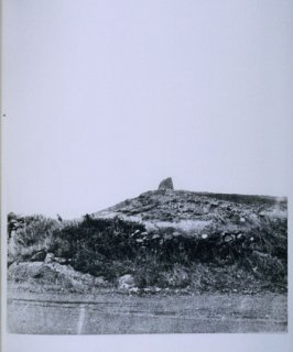 Hill with ruins on top, page in the book Sardinia (Oakland: Crown Point Press, 1975)