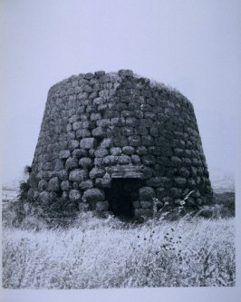 Round stone structure, page in the book Sardinia (Oakland: Crown Point Press, 1975)
