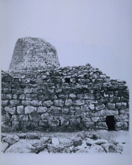 Stone ruin with remnant of tower, page in the book Sardinia (Oakland: Crown Point Press, 1975)