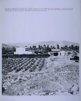 House in landscape, final page in the book Sardinia (Oakland: Crown Point Press, 1975)