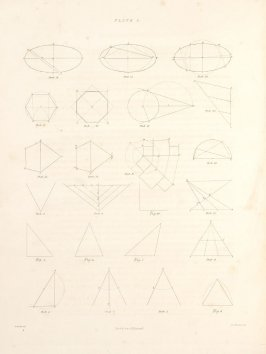Plate 1 in the book The Principles of practical Perspective… (London: Leigh and Son…, 1835), part 1