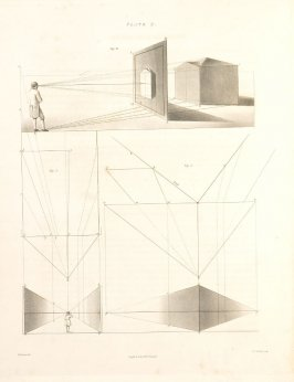 Plate 2 in the book The Principles of practical Perspective… (London: Leigh and Son…, 1835), part 1