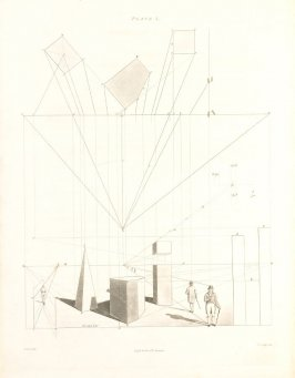 Plate 7 in the book The Principles of practical Perspective… (London: Leigh and Son…, 1835), part 1