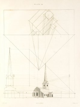 Plate 19 in the book The Principles of practical Perspective… (London: Leigh and Son…, 1835), part 1