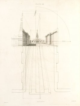Plate 21 in the book The Principles of practical Perspective… (London: Leigh and Son…, 1835), part 1
