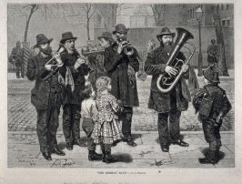 The German Band - from Harper's Weekly, (April 16, 1879), p. 325