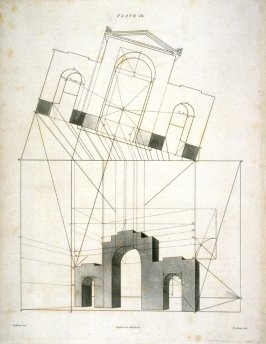 Plate 12 in the book The Principles of practical Perspective… (London: Leigh and Son…, 1835), part 1