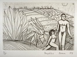 Figures in a Landscape, plate 7 in the portfolio Twenty Etchings