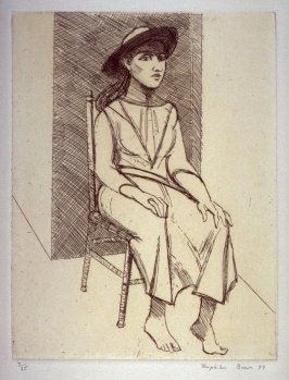 Girl in Hat, plate 11 in the portfolio Twenty Etchings