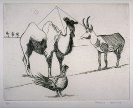 Camel, Okapi, and Bird, plate 12 in the portfolio Twenty Etchings