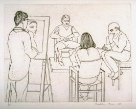 Beth, Gordon, and Mark, Drawing Seated Man, plate 14 in the portfolio Twenty Etchings