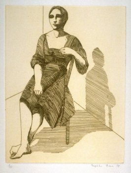 Seated Woman, plate 15 in the portfolio Twenty Etchings