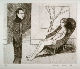 Interior, plate 16 in the portfolio Twenty Etchings