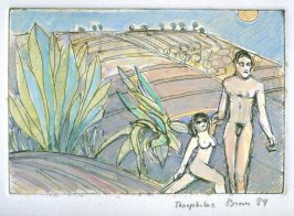 Figures in a Landscape,additonal print included in the portfolio Twenty Etchings