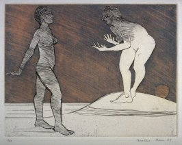Two Women on the Beach, plate 2 in the portfolio Twenty Etchings