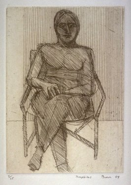 Woman in Director's Chair, plate 3 in the portfolio Twenty Etchings