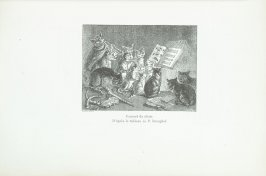 """Concert de chats. D'après le tableau de P. Breughel,"" pg. 183, in the book Les Chats (Cats) by Champfleury (Paris: J. Rothschild, 1870)."