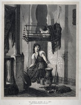 An Algerian Mother - The Illustrated London News, 3 August 1872