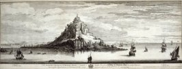 The Southwest Prospect of St. Michael's Mount in Cornwall, from 'Views of Ruins of Castles and Abbeys in England' (1726-1739)