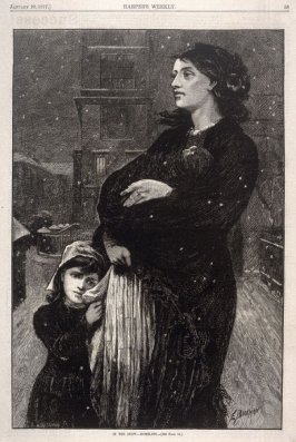 In the Snow - Homeless - p.53 from Harper's Weekly 20 January 1877