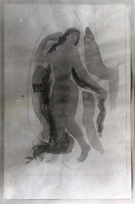 Untitled (Drawing of Seated Female Nude)