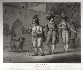 Shakespeare - Launce, teaching his dog Crab to behave as a dog in all things - The Two Gentlemen from Verona