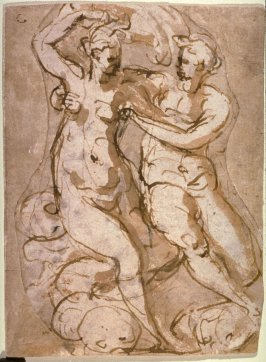 Recto: Sea God and the Naiad