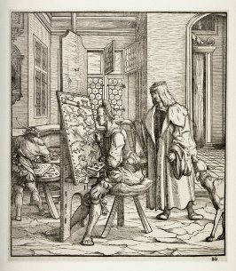 The White King in the Studio of the Painter, plate 26 from Max Treitzsauerwein, Der Weiss Kunig (The White King) (first edition; Vienna: Joseph Kurzboeck, 1775)