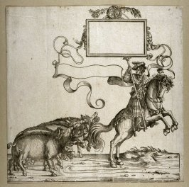 [Man on a horse leading boars] from: The Triumph of Maximilian I