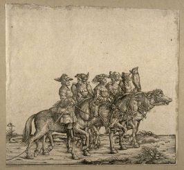 [Five men on horseback] from: The Triumph of Maximilian I