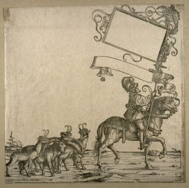 [Man on horseback in front of goats] from: The Triumph of Maximilian I