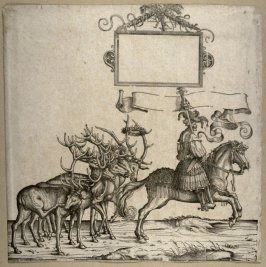 [Man on horseback in front of five deer] from: The Triumph of Maximilian I