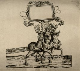 Two Elks, driven by a small boy. From: The Triumph of Maximilian I