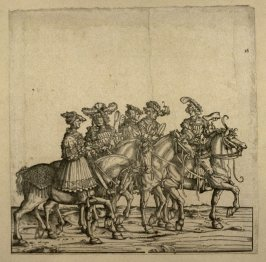 Five court officers: Cupbearer, Cook, Barber, Tailor and Cobler. From: The Triumph of Maximilian I