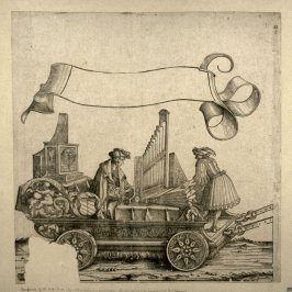 Car with a regal and a positive organ... From: The Triumph of Maximilian I