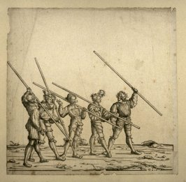 Five men with quarterstaves... From: The Triumph of Maximilian I