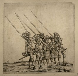 Five Tourneyers on Foot. From: The Triumph of Maximilian I