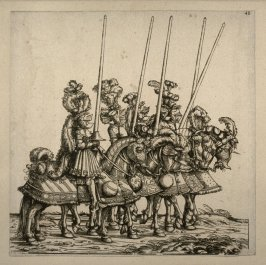 Five Mounted Tourneyers. From: The Triumph of Maximilian I