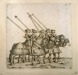 """Knights depicting """"Gestech"""". From: The Triumph of Maximilian I"""