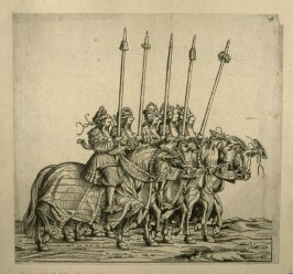 """Participants in the """"Rennen"""". From: The Triumph of Maximilian I"""