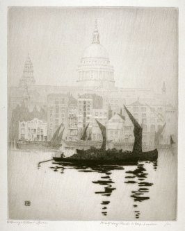 Misty Day--Pauls Wharf--London