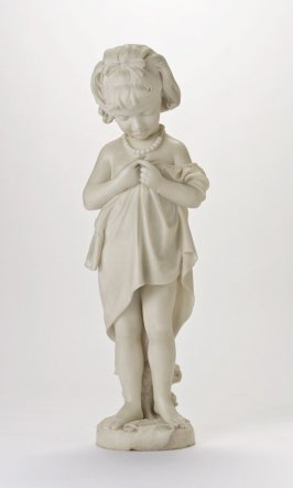 Statuette of Little Girl and Pedestal