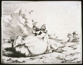 One of a set of 8 etchings of cows: Plate 3