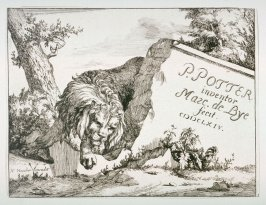 Title page: One of a set of 8 Lions (Plate 1)