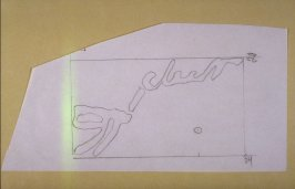 Tracing of the Thoreau Drawing (A Cedar Canoe Cleat) used in Signals 23